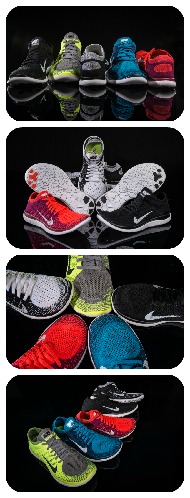 Nike serves up the latest offering from their Free 2014 Running Collection. The Free 4.0 Flyknit is available now!