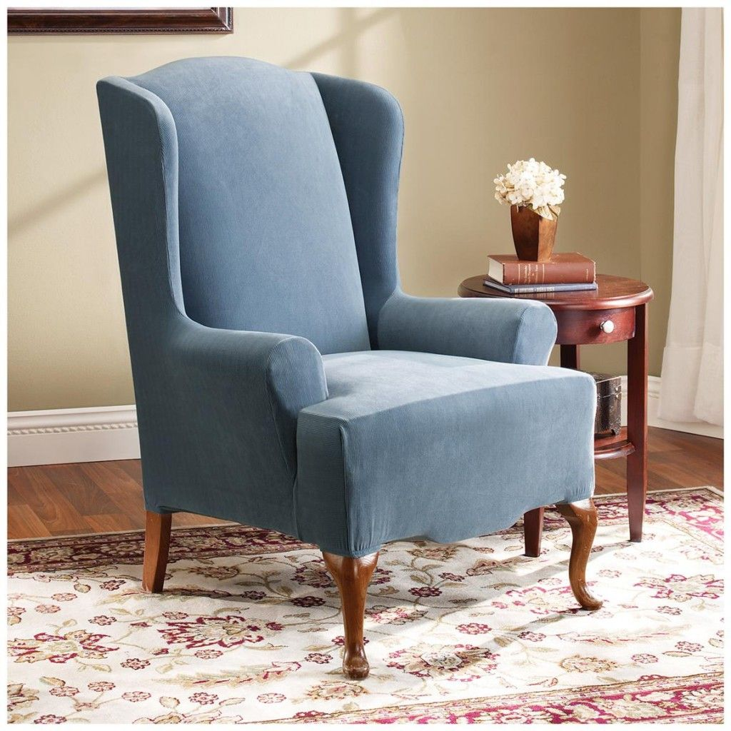 Illustration of Wingback Chair Slipcover for Comfortable