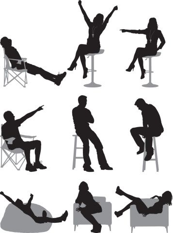 Silhouette Of People Sitting In Different Silhouette People Person Silhouette Silhouette Architecture
