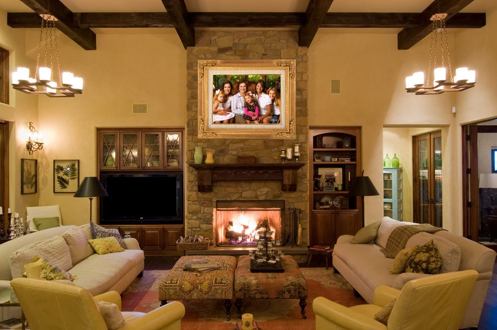 Hang family portrait over fireplace and other ideas for - Over the fireplace decor ...