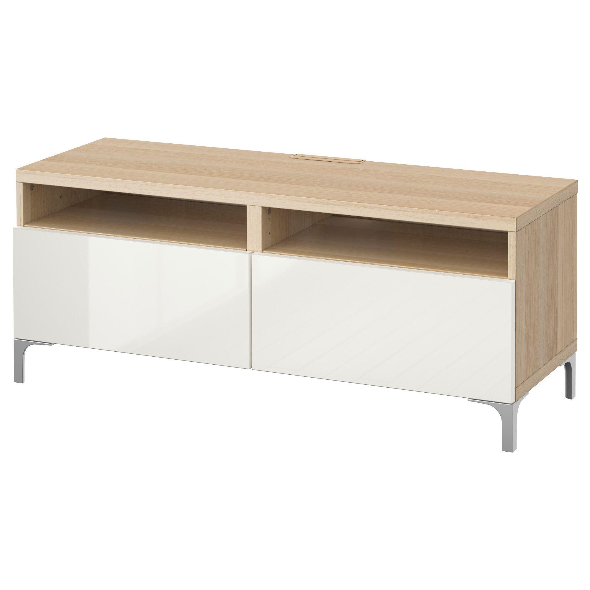 oak effect, TV bench, 120x40x48 cm IKEA