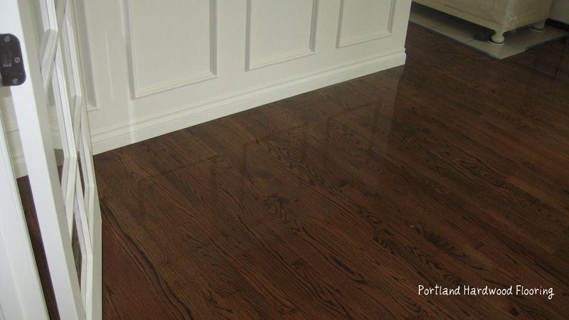Portland Hardwood Flooring Red Oak Medium Brown Stain Hardwood