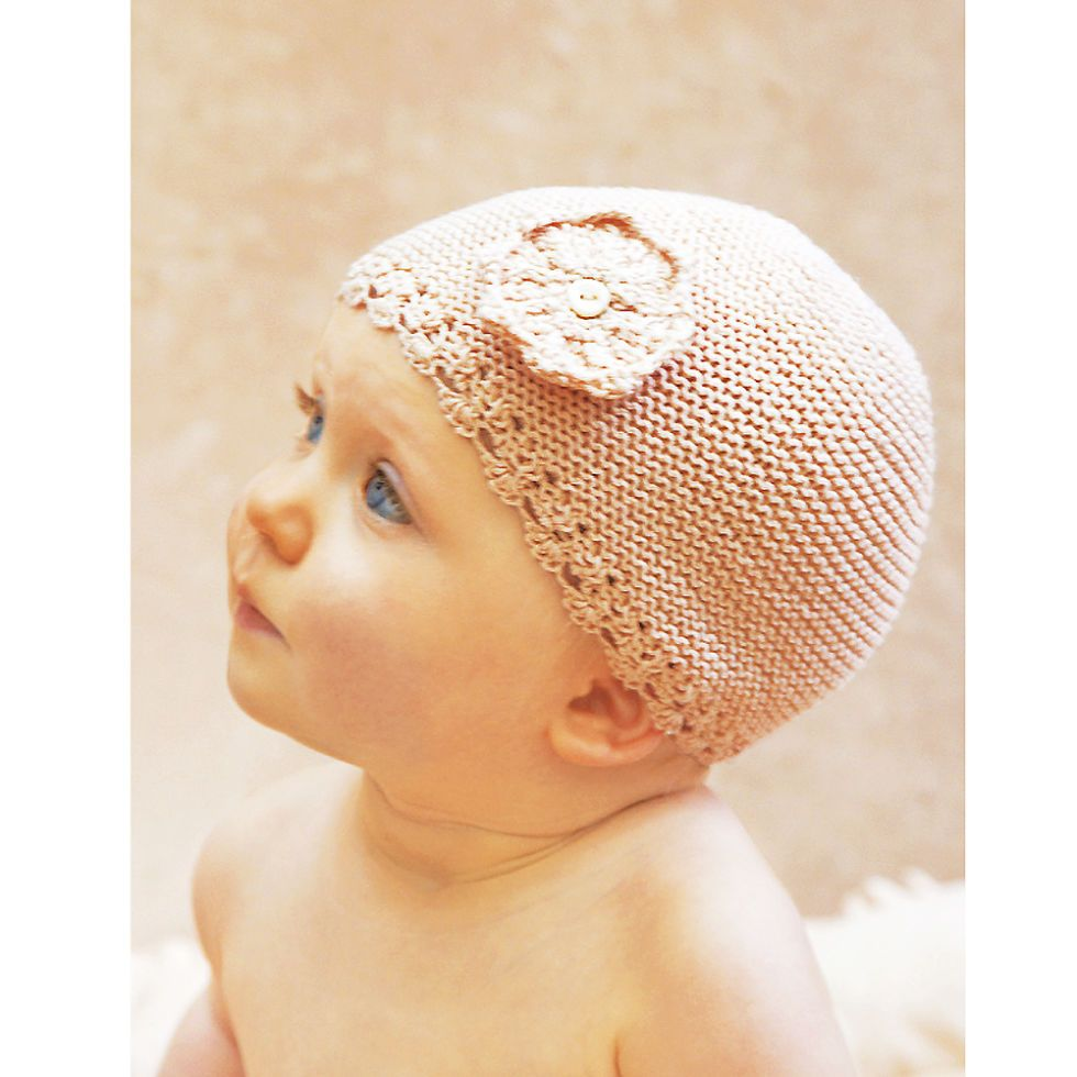Cute knitting pattern for a baby hat