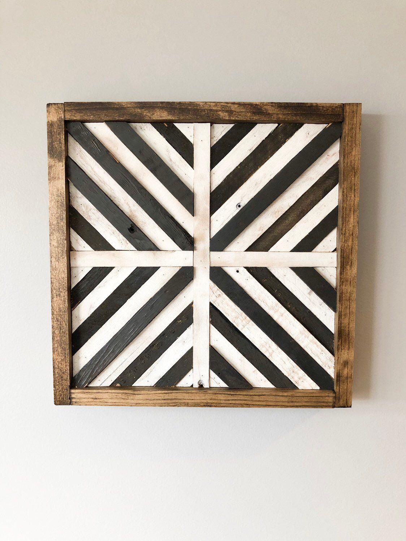 Geometric Chevron Wood Wall Art/Decor -