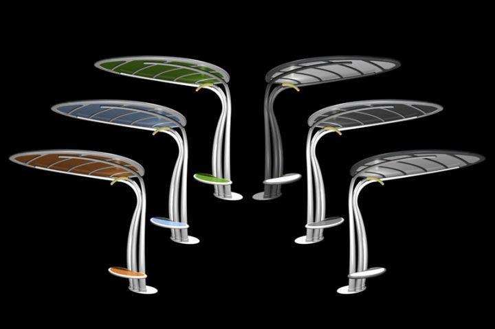 Lotus por Giancarlo Zema, Eco-muebles con tecnología fotovoltaica ...