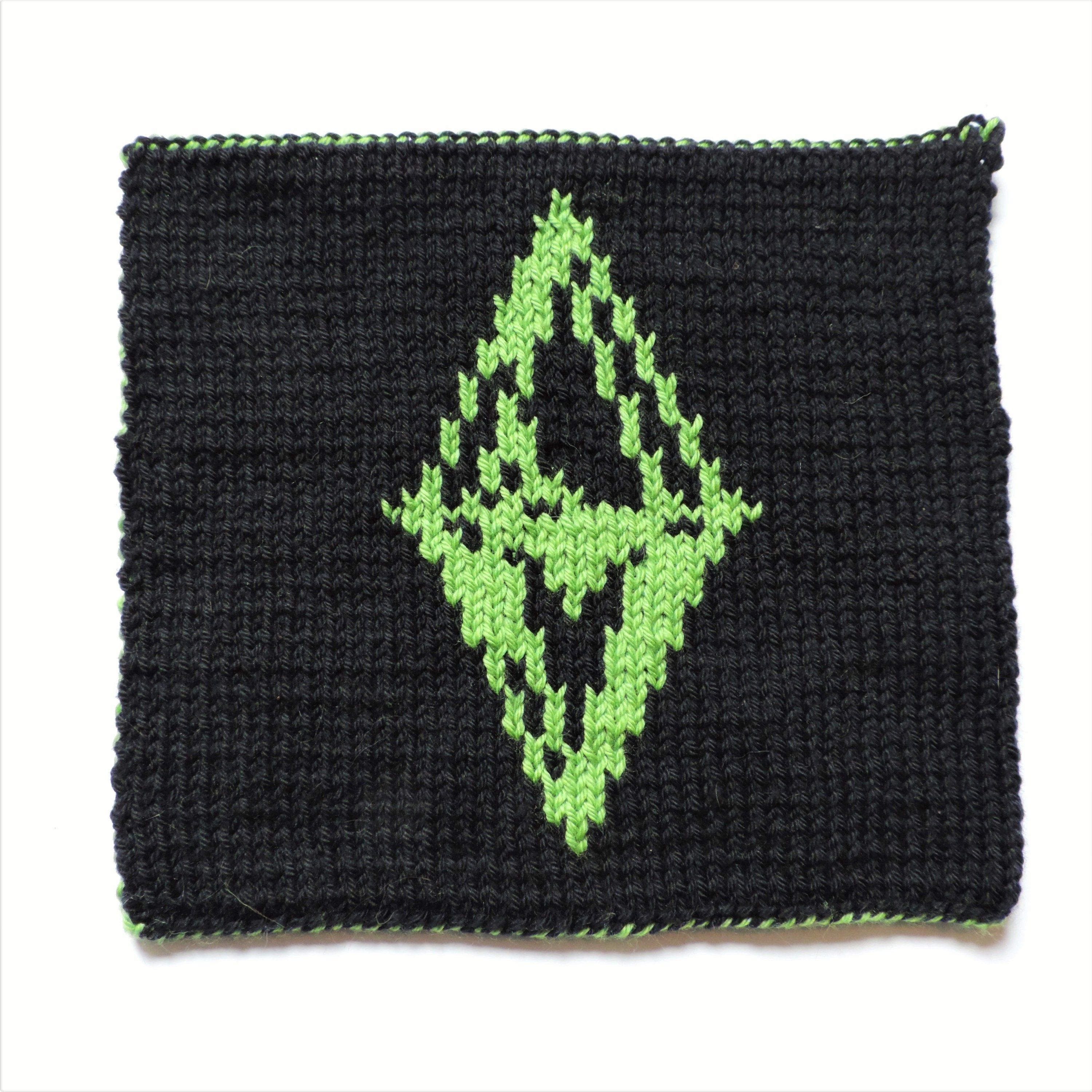 2016 Geek-A-Long: week 42 The Sims   knitting pattern with color ...