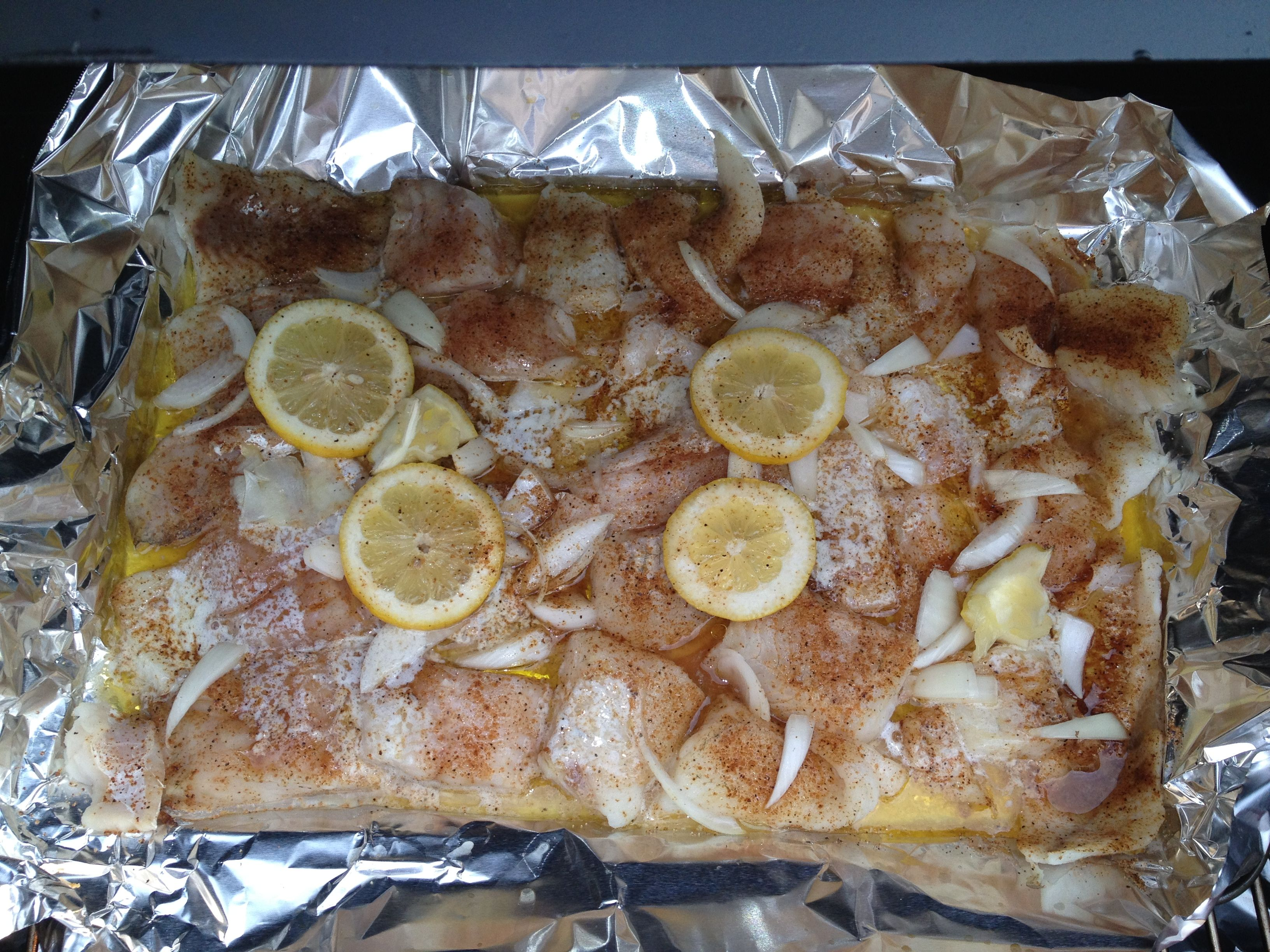 Fresh Walleyes On The Green Mountain Grill I Cut Up Walleye Fillets Into 2  Inch