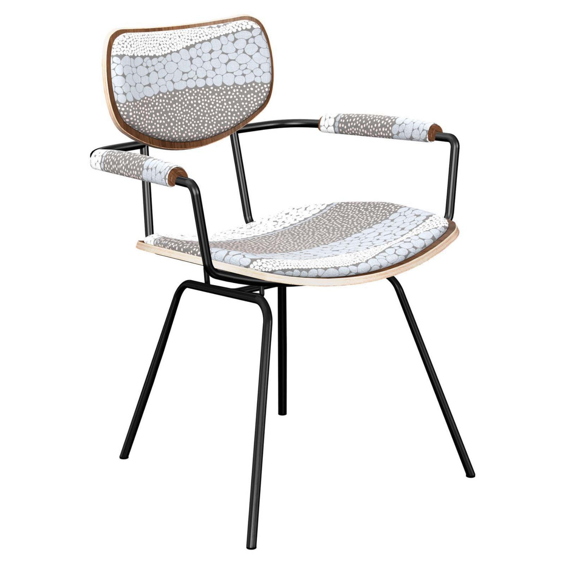 Nyekoncept Harvey Cloudy Trails Classroom Dining Arm Chair  16004686