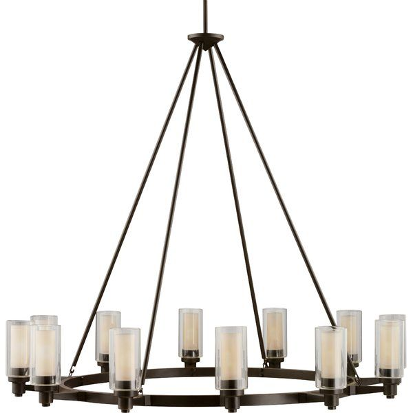 Youll love the styx 12 light shaded chandelier at wayfair great deals