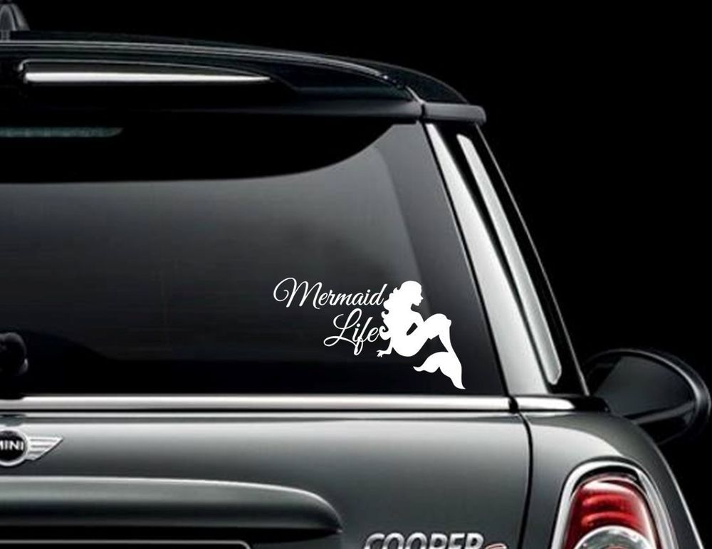 Mermaid Life Vinyl Decal For Your Car Laptop And More Want - Mermaid custom vinyl decals for car