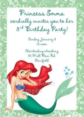Ariel birthday party invitations 1st 2nd 3rd 4th 5th 6th 7th 8th ariel birthday party invitations 1st 2nd 3rd 4th 5th 6th 7th 8th 9th 10th cute filmwisefo Choice Image