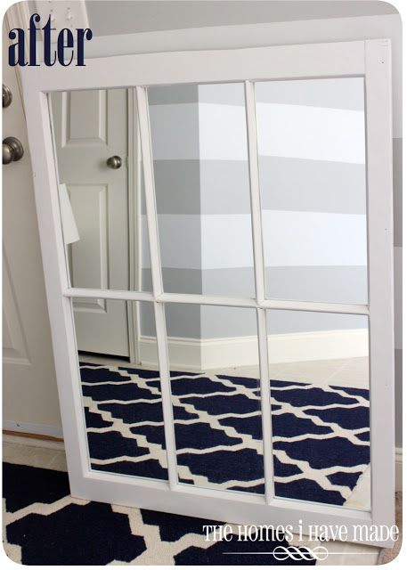 Chippy Window Turned Gorgeous Mirror | Window frames, Master bedroom ...