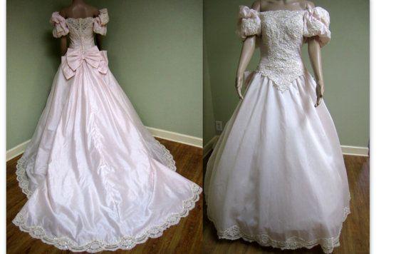 Wedding Dress Vintage 80s