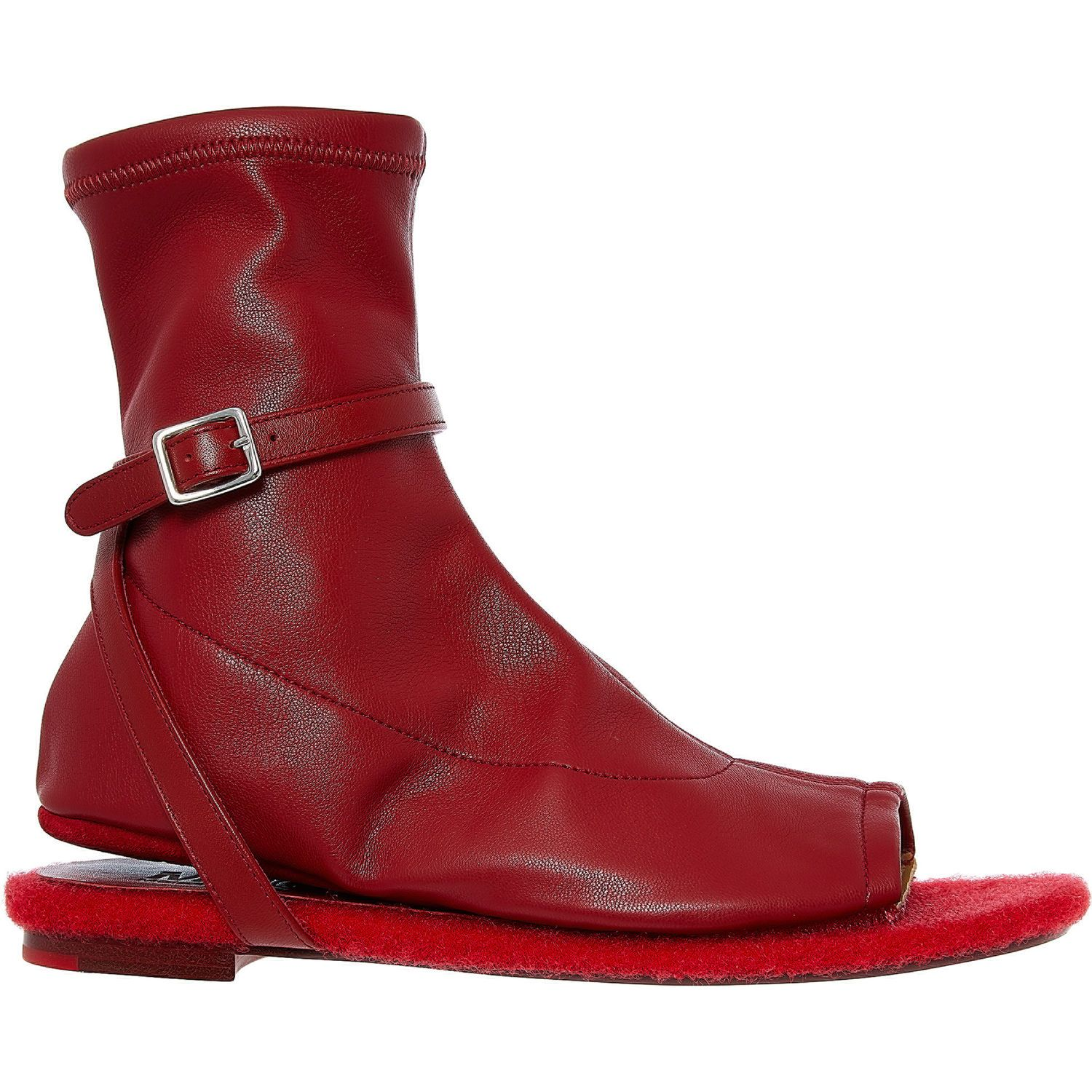 outlet store detailed images shoes for cheap Red Peep Toe Sandals - Boots - Shoes - Women - TK Maxx | Boots ...
