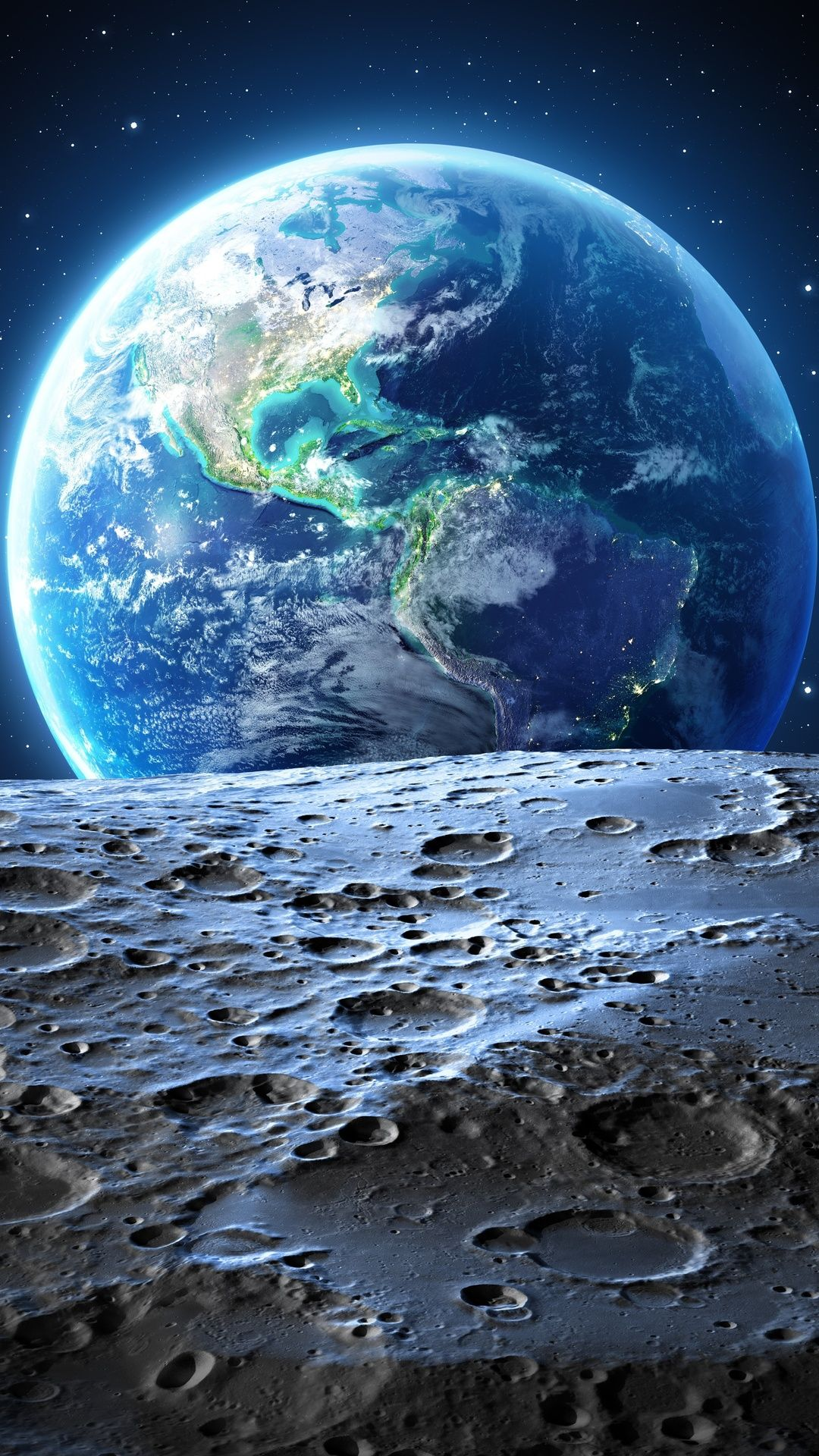 Earth Moon 4k In 1080x1920 Resolution Wallpaper Earth Planets Wallpaper Wallpaper Space