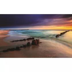 Naplemente a tengerparton poszter, fotótapéta 1027 több méretben, alapanyagban