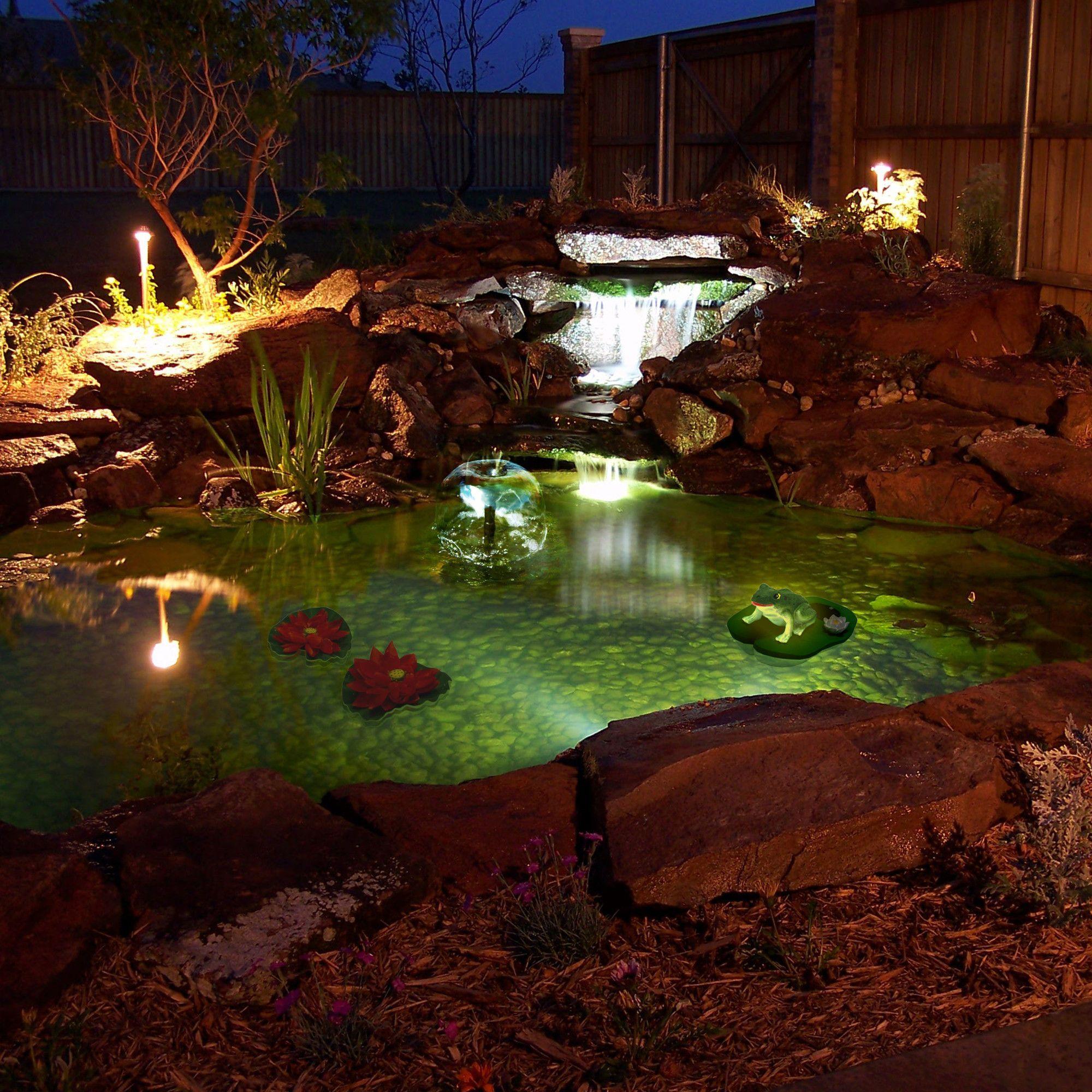 love algreen pond kit with solar lighting wayfair ponds
