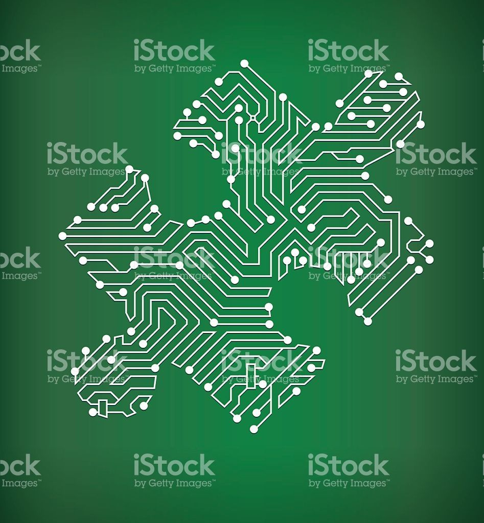Jigsaw Puzzle Circuit Board On Royalty Free Vector Background The Diagram Art Stock