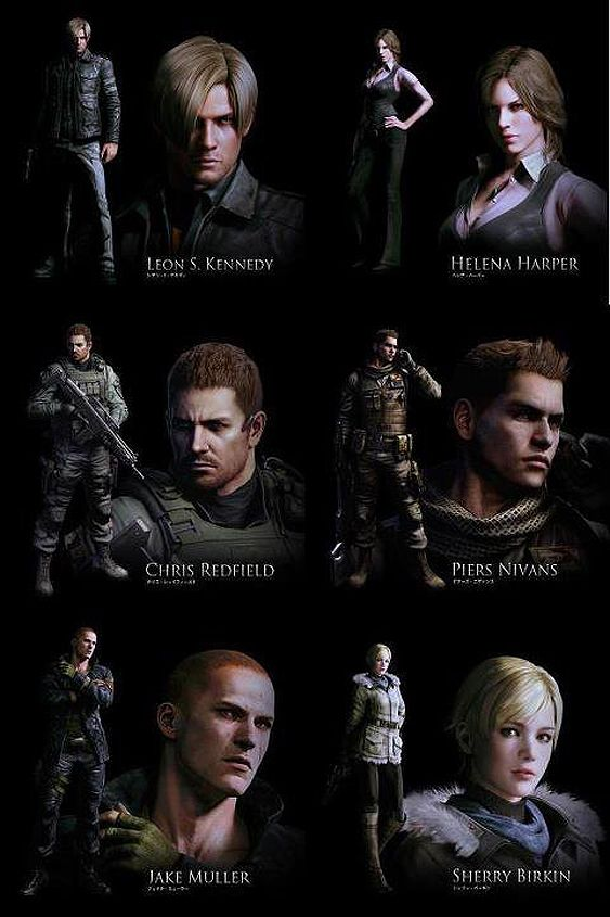 Capcom Releases Resident Evil 6 Poster Shows Off The Game S Cast Resident Evil 5 Resident Evil Resident Evil Collection