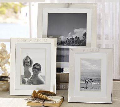 silver plated engravable frames potterybarn in 8 x 10opening - Engravable Frames