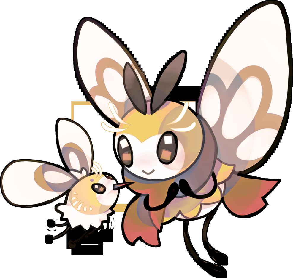 Cutiefly And Ribombee Pokemon Pokemon Art Original Pokemon