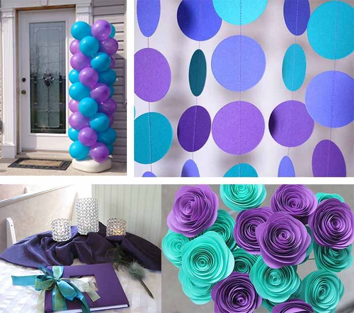 Best ideas for purple and teal wedding   Wedding decorations uk ...