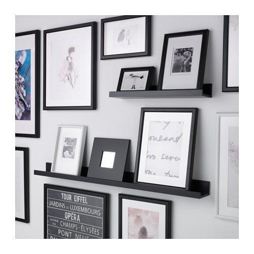 Mosslanda Półka Na Zdjęcia Czarny Pomysły Na Dekoracje