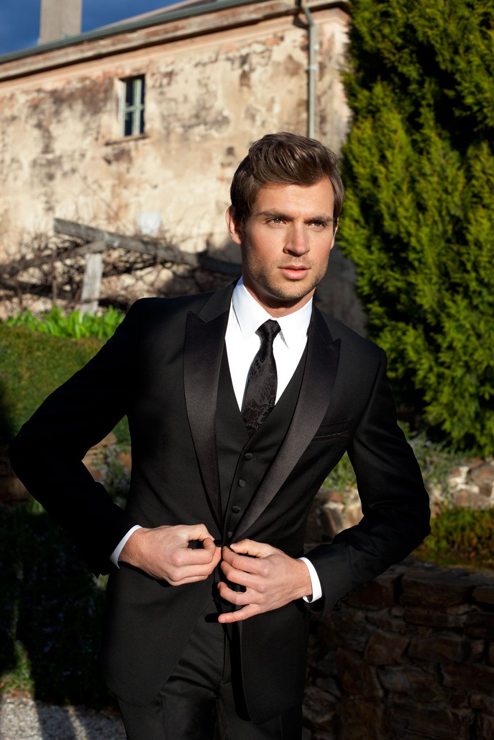 I don't think i can stick w/ Vintage w/ the men.  There's just something too sexy about a man In a black suit