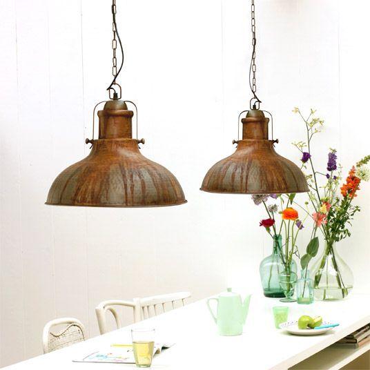 hanglamp van roest stoere industrià le lamp zook â lampen
