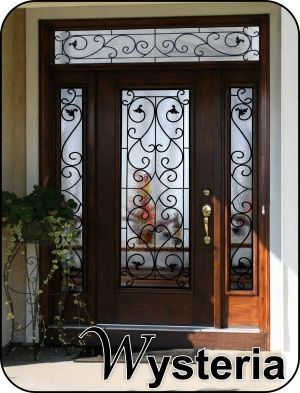 Wysteria Leafy Wrought Iron Glass Door With Images Glass Front