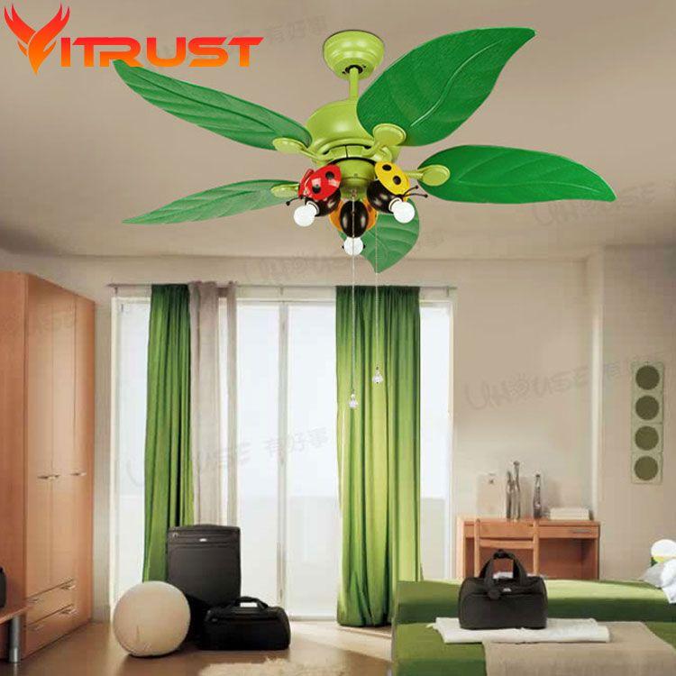 Exceptional Decorative Bedroom Ceiling Fan Kids Iron Ceiling Fans For Kids Rooms Ceiling  Fan Light Lamparas De
