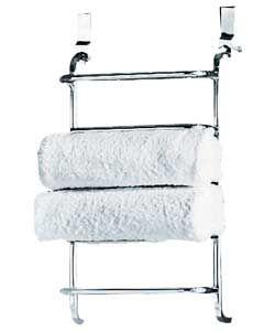 Argos   Living 5 Tier Chrome Over Door Towel Rail   Chrome Plated £19.99