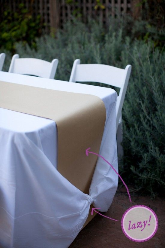 How To Make A Kraft Paper Runner And Tie Tablecloth Knot