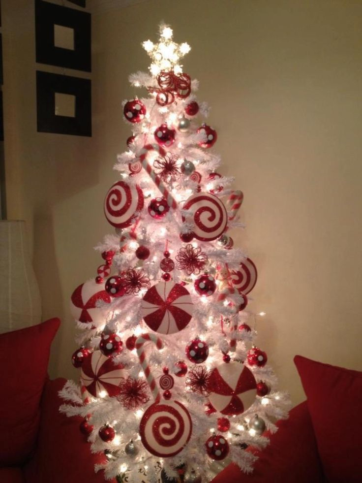 candy cane theme christmas tree