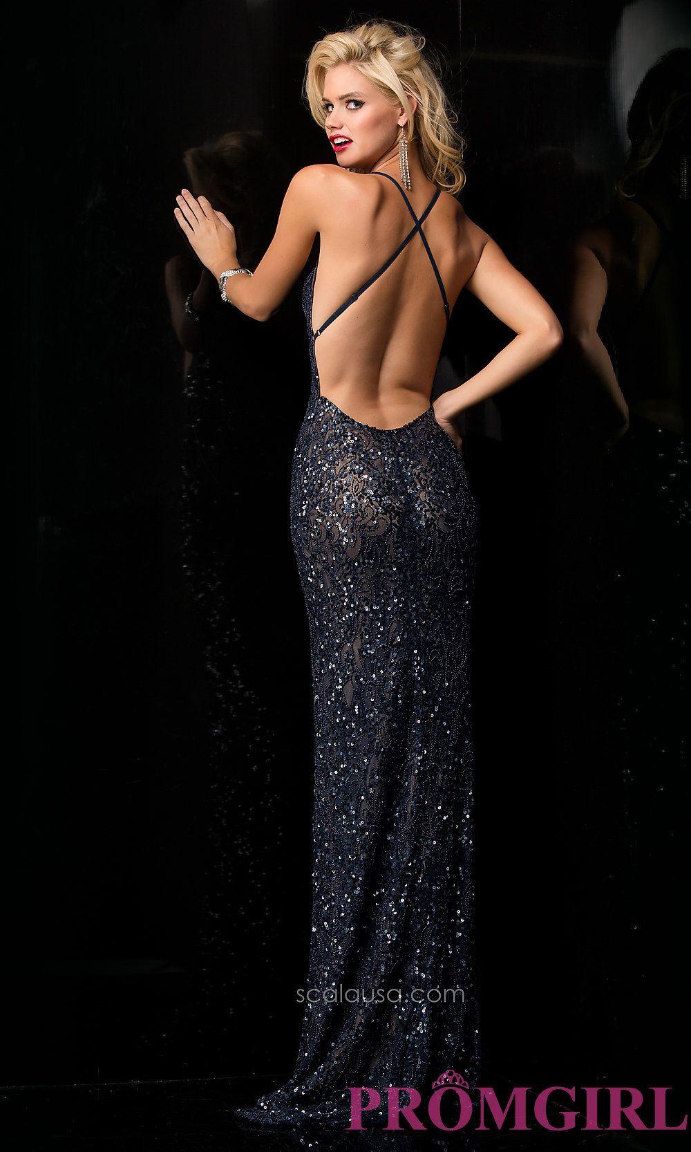 Long prom dress style scala back image prahm pinterest
