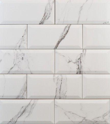 Metro Subway Tiles Calcatta Marble 100x200mm Ceramic Wall Tiles Wall Tiles Marble Effect