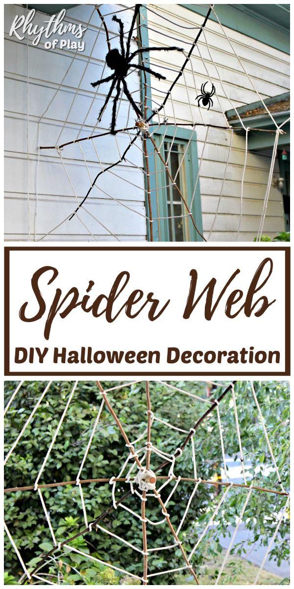 Giant Halloween Spider Web Decoration Kbn Crafts For Kids