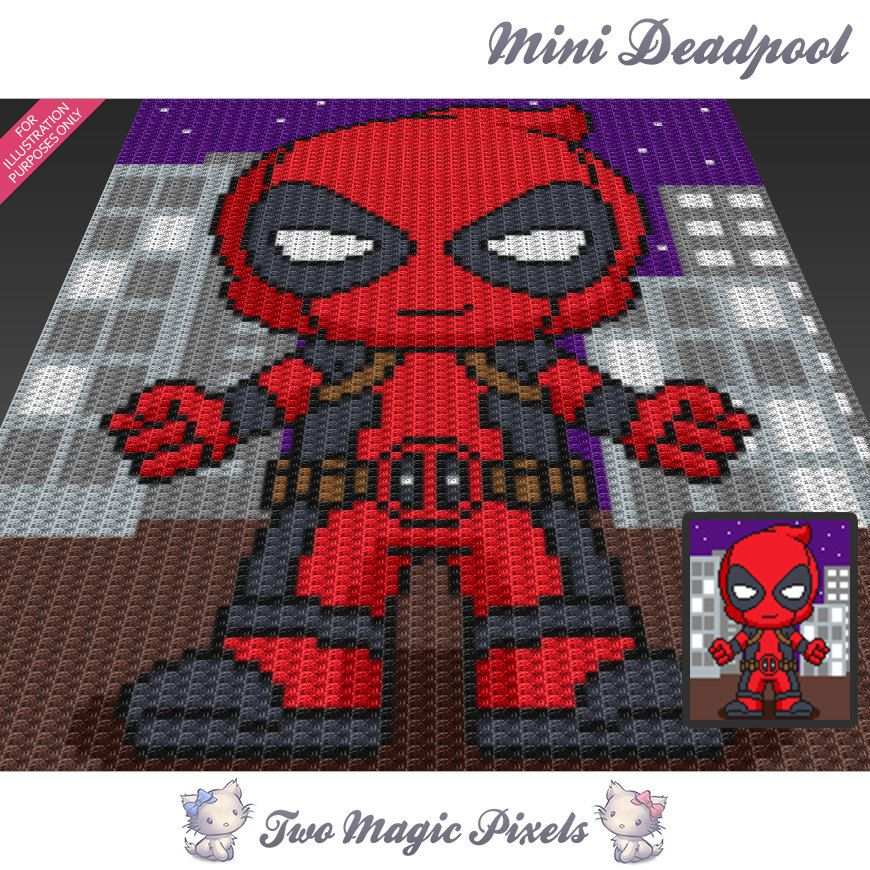 Mini Deadpool is a graph pattern that can be used to crochet a ...