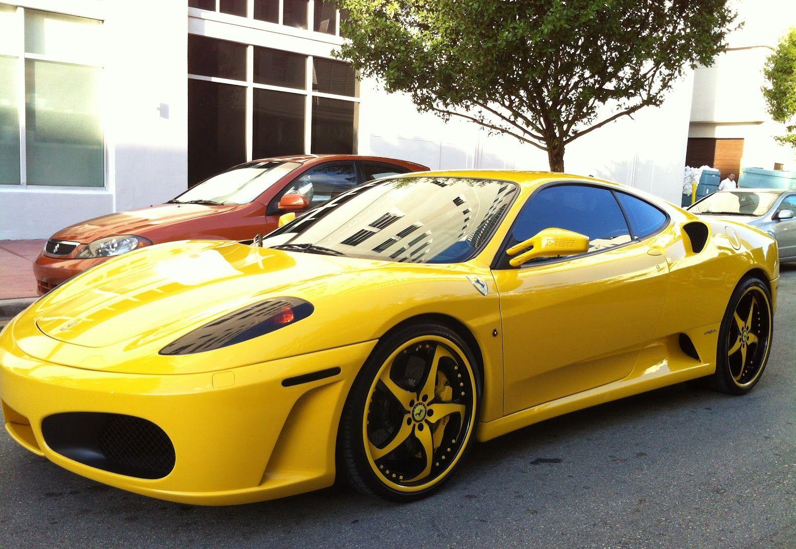 Cars colored yellow - Wheels Wheels Yellowferrarisportdream Carswheels
