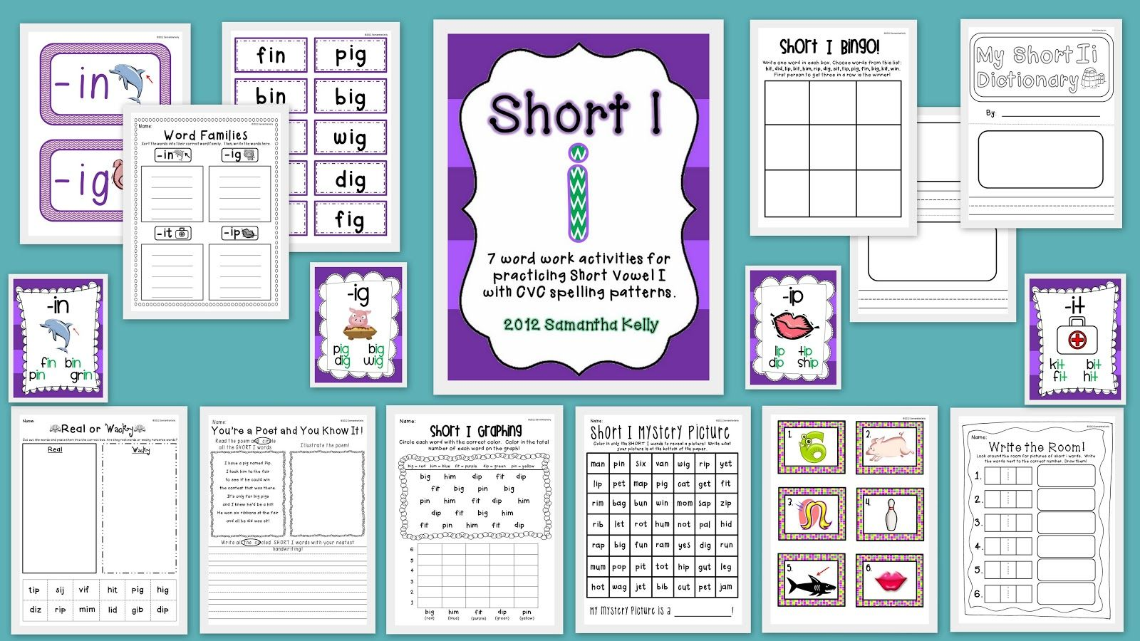 Free Short I Cvc Practice 8 Activities To Use In Your Small Groups