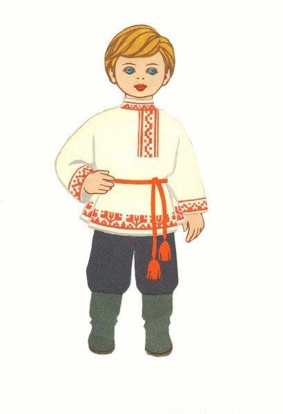 Русский народный костюм картинки для детей дошкольного возраста, самой