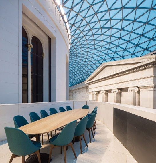 London Design Firm Softroom Renovates The British Museum S Great Court Restaurant Architecture Architecture Design Museum Interior