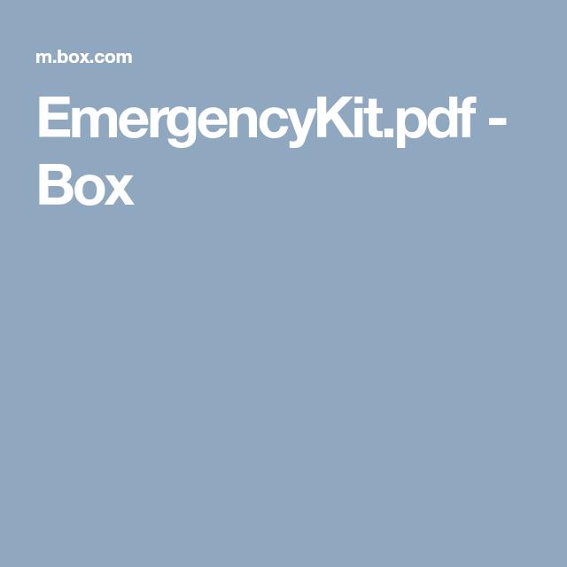 Family Emergency Plan, Emergency