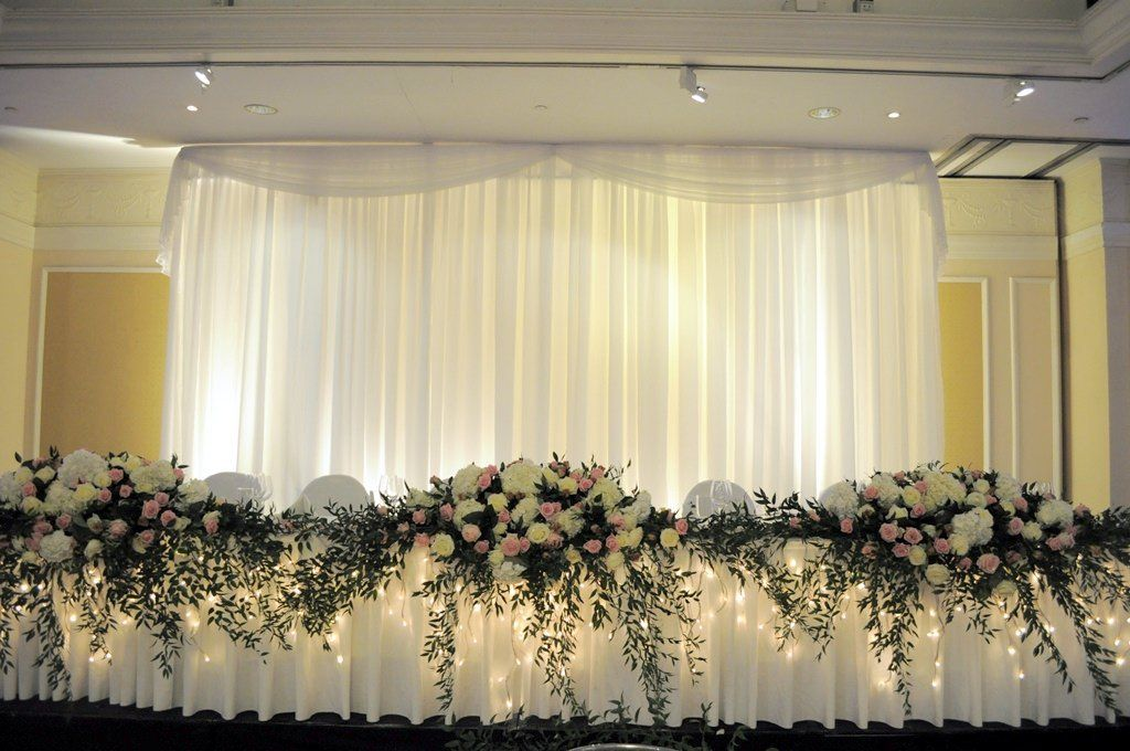Amazon ice silk white 33 meters backdrop drape curtain for top table backdrop for wedding reception in hertfordshire junglespirit Choice Image