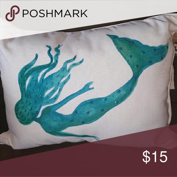 flax Decorative Throw Pillow Case Cushion Cover Purple Mermaid 45*45cm C8N3 S7Q2