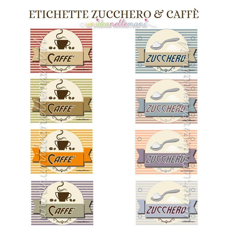 Super etichette zucchero e caffè da stampare | ETICHETTE | Pinterest  WG83