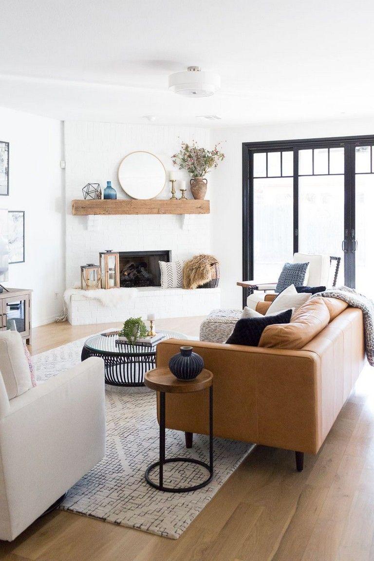 65+ Beautiful Modern Black White Living Room Inspired ...