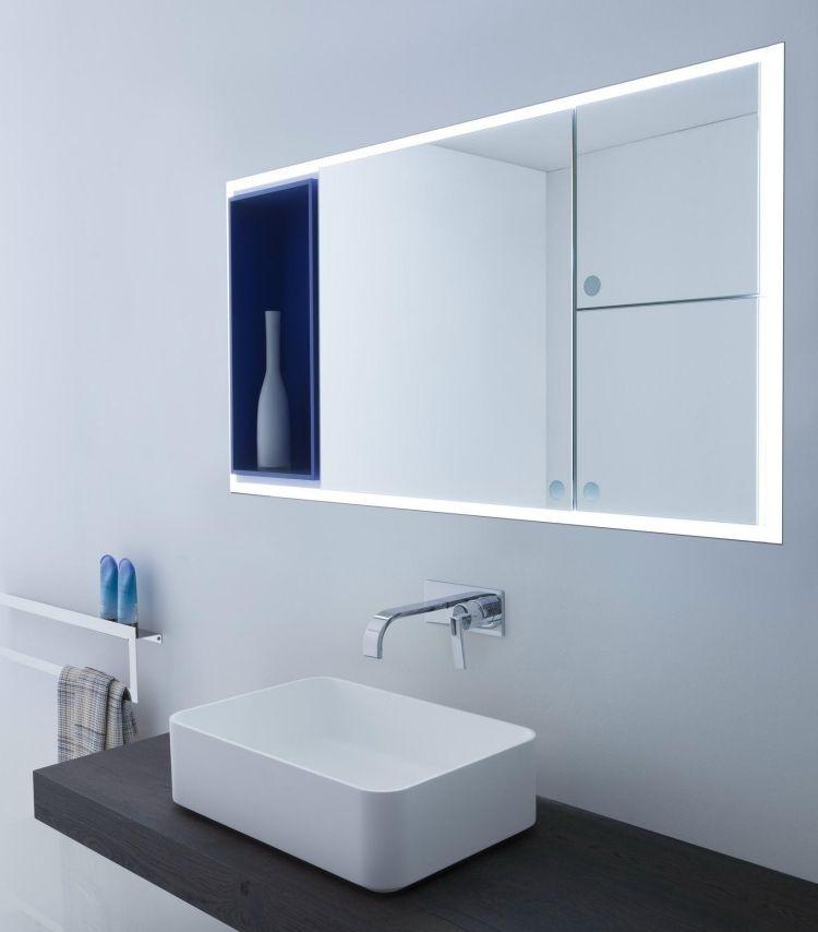 miroir salle de bain lumineux avec rangement Joy par Arlex design