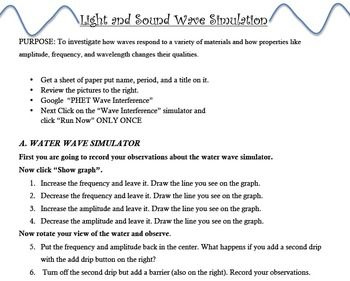 Interactive Light And Sound Wave Simulation Sound Waves Waves
