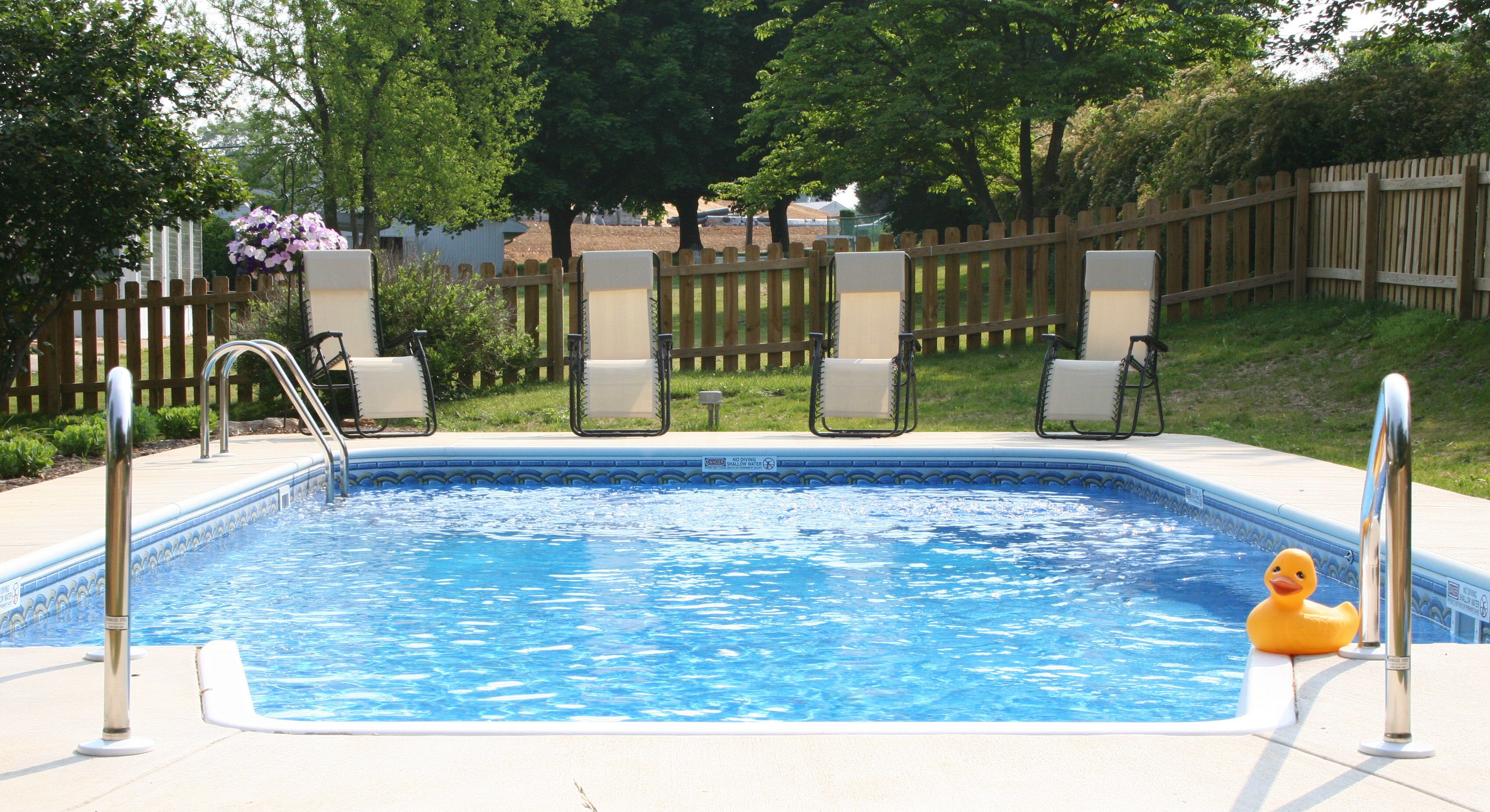Rectangle w/center end step In ground pools, Pool, Outdoor